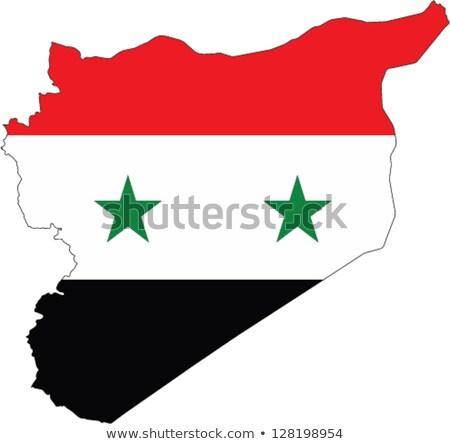 Síria · mapa · bandeira · viajar · preto · asiático - foto stock © popaukropa
