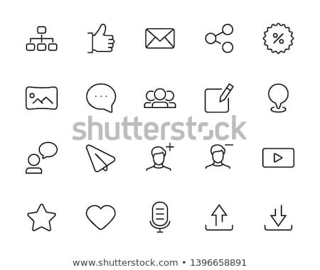 Globalny klienta sprzężenie zwrotne line ikona klienta Zdjęcia stock © WaD