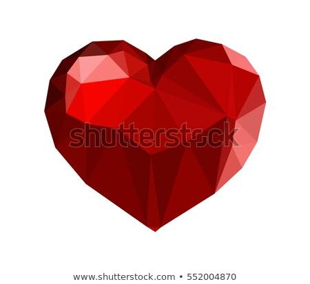 Rood robijn laag kunst vector grafische Stockfoto © smith1979