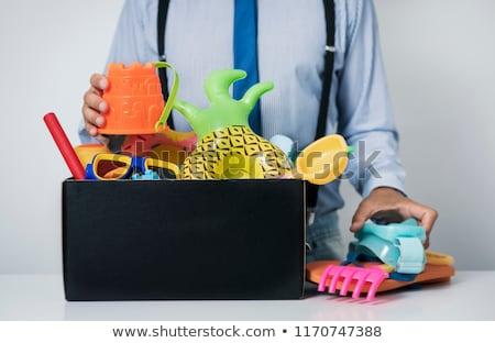 man at office and summer stuff stock photo © nito