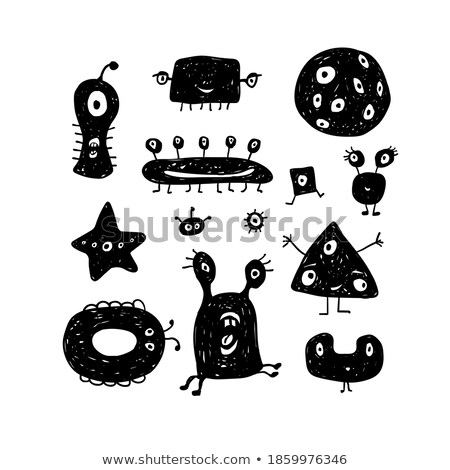 Confundirse feo exóticas Cartoon ilustración mirando Foto stock © cthoman