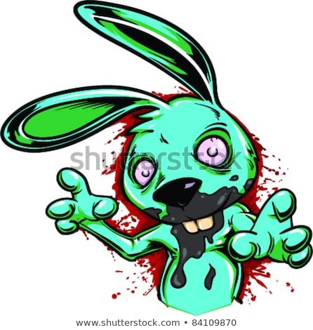 Crazy уродливые Bunny Cartoon иллюстрация глядя Сток-фото © cthoman