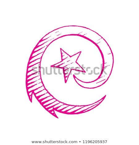 マゼンタ インク スケッチ 流れ星 実例 孤立した ストックフォト © cidepix