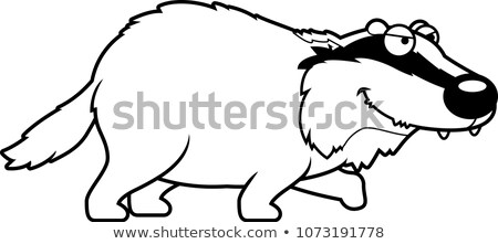 Cartoon borsuk ilustracja zwierząt uśmiechnięty Zdjęcia stock © cthoman