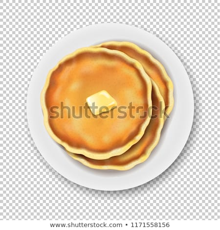 Plaat pannenkoek geïsoleerd transparant helling Stockfoto © adamson