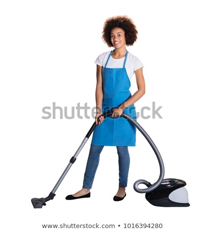 Portrait Of Happy Female Janitor With Vacuum Cleaner Stock photo © AndreyPopov