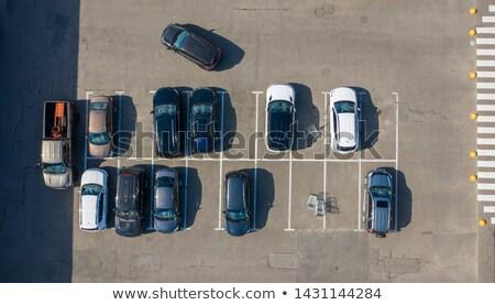 Widok z lotu ptaka pusty parking wskazując górę widoku Zdjęcia stock © artjazz