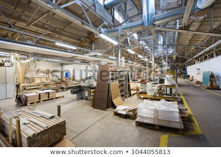 wooden boards at workshop or woodworking plant Stock photo © dolgachov