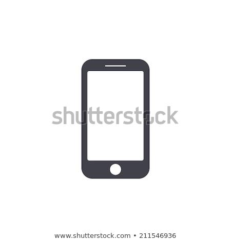 Stockfoto: Mobiele · telefoons · knoppen · iconen · bericht · kaart · plaats