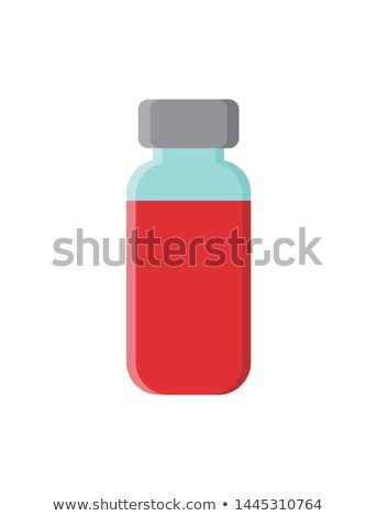 Red Vaccine in Glass Bottle with Sealed Metal Top Stock photo © robuart