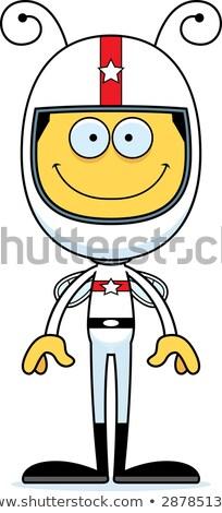 漫画 笑みを浮かべて レースカー ドライバ 蜂 ストックフォト © cthoman