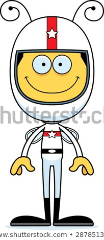 Cartoon Smiling Race Car Driver Bee Stock photo © cthoman