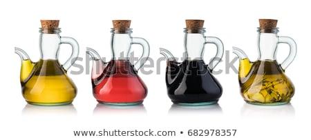 Vinho tinto vinagre balsâmico isolado branco vinho vidro Foto stock © brulove