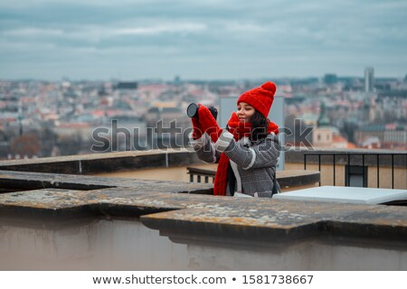 december advent prague cityscape photo stock photo © artush