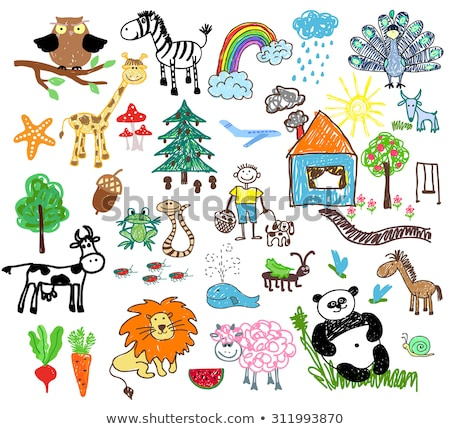 Children's drawing of a horse Stock photo © kash76