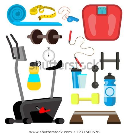 ginásio · ícone · esportes · fitness · silhueta · treinamento - foto stock © pikepicture