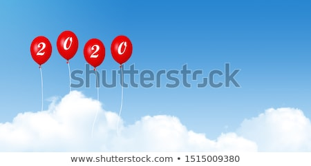 Blue and white balloons with word cheer up Stock photo © colematt
