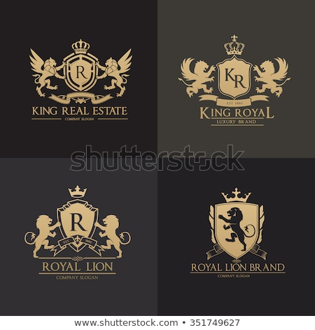 gold coat of arms with ribbon decoration vector stock photo © robuart