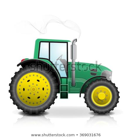 Trator condução verde campo vetor Foto stock © robuart