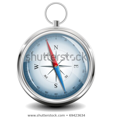 Blue Compass in circle icon. Vector Illustration isolated on white background. Stock photo © kyryloff