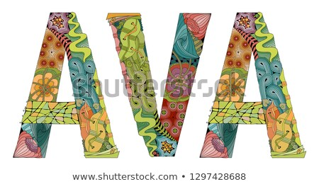 female name ava vector decorative zentangle object stock photo © natalia_1947