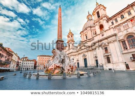 Fontana dei Quattro Fiumi on Piazza Navona in Rome, Italy Stock photo © boggy