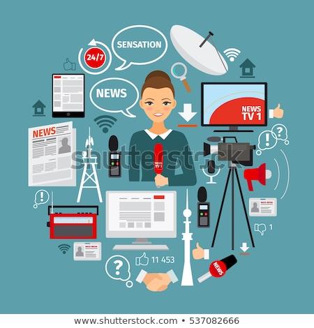 Masa mediów ikona infografiki projektu internetowych Zdjęcia stock © netkov1