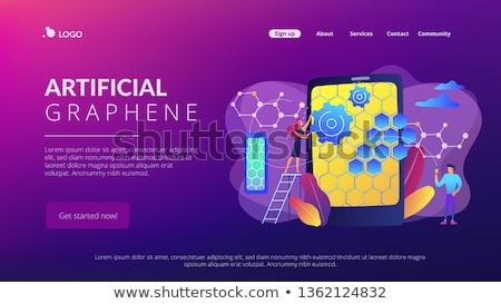 estrutura · aterrissagem · página · vetor · química · ciência - foto stock © rastudio