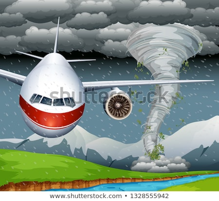 A plane cash from typhoon Stock photo © bluering