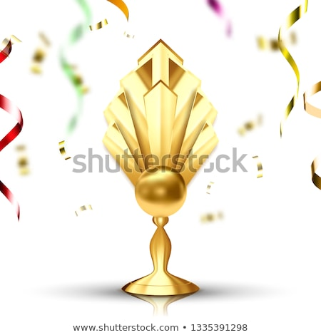 golden cup vector gilded metal object leader tag athlete power number one first place achievem stock photo © pikepicture