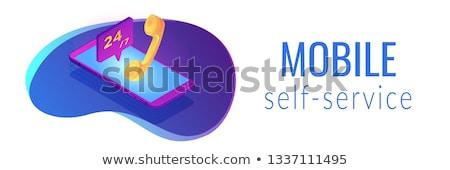 Cliente isométrica 3D bandeira clientes Foto stock © RAStudio