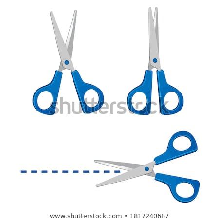 Blue Scissors illustration Stock photo © Blue_daemon