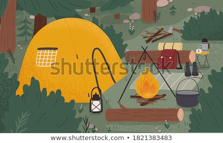 Camping in the forest Stock photo © colematt