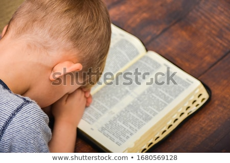 praying hands over the bible stock photo © andreypopov
