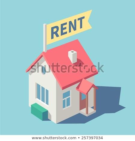 Casa alugar família em movimento corretor de imóveis Foto stock © RAStudio