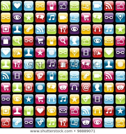 Set vector icons with elements for mobile concepts and web apps. Business and marketing, programming Stock photo © makyzz