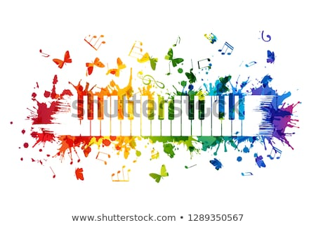 Colorful piano Stock photo © Lizard