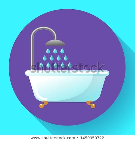 Vasca da bagno doccia icona vettore acqua Foto d'archivio © MarySan