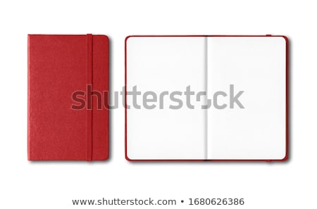 Notebook In The Red Cover ストックフォト © Daboost