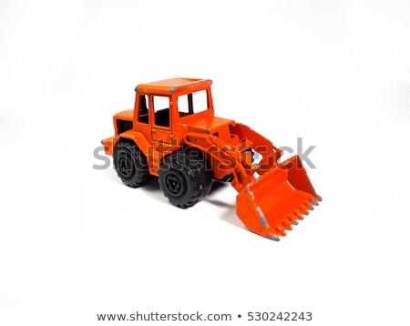 Jongen spelen groot speelgoed graafmachine bouw Stockfoto © galitskaya