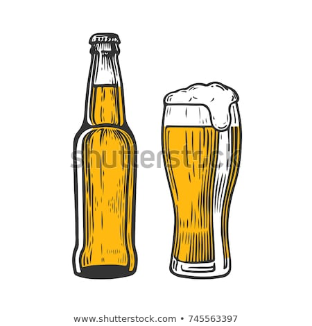 Hand Drawn Classic Color Bottle Of Beer Vector stock photo © pikepicture