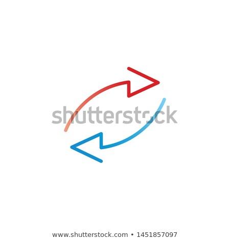 2 · 赤 · 青 · 異なる · 方向 - ストックフォト © kyryloff