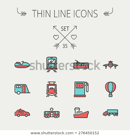 public transport water taxi vector thin line icon stock photo © pikepicture