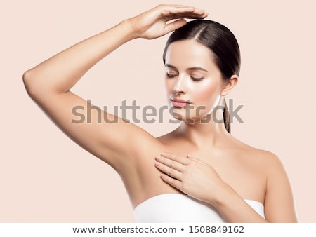 Body care and clean skin. Depilation concept. Waxing for beautiful woman Stock photo © serdechny