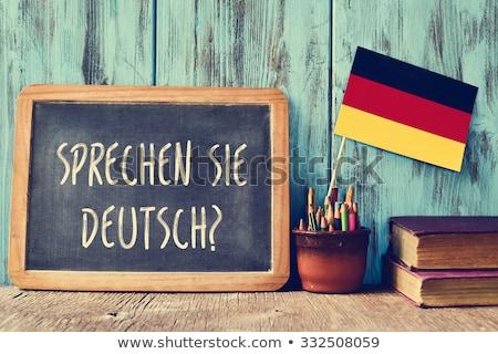 question do you speak german written in german stock photo © nito