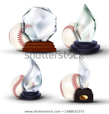 baseball · gioco · certificato · diploma · vetro · trofeo - foto d'archivio © pikepicture