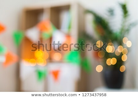 blurred home interior at st patricks day party Stock photo © dolgachov