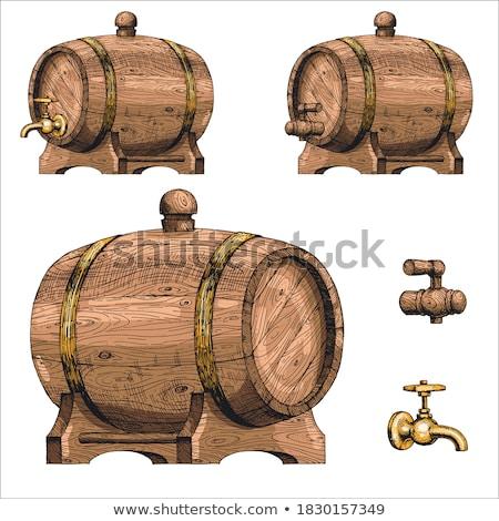 レトロな 木製 ビール バレル 色 ストックフォト © pikepicture