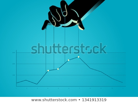 Puppet businessman with financial concept Stock photo © ra2studio
