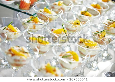 catering services background with snacks on guests table in restaurant at event party Stock photo © ruslanshramko